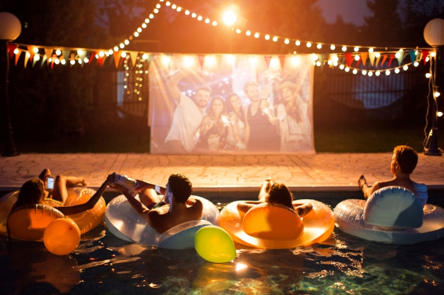 Movie night in the pool.jpg