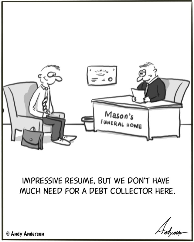 Funeral debt collector