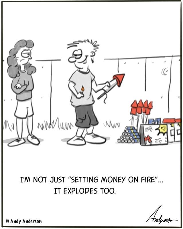 Money explodes too